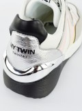 PATENT LEATHER AND MESH RUNNING SHOES