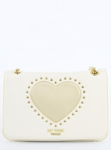SHOULDER BAG WITH STUDS AND HEART