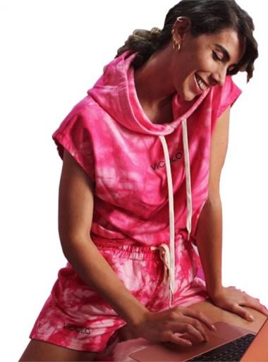 Vicolo PATALONCINO TIEDYE COLLECTION - RK0516 Fucsia - Tadolini Abbigliamento