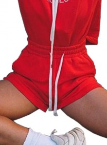 SWEATSHIRT SHORTS WITH DRAWSTRING