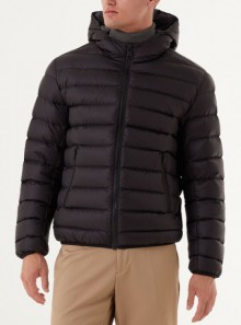 SPORTY HOODED DOWN JACKET