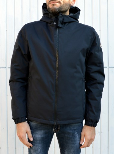 HOODED OPAQUE DOWN JACKET