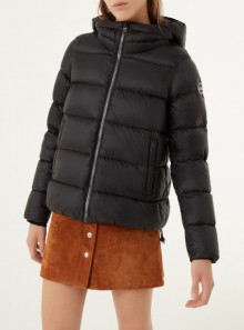 GLOSSY DOWN JACKET WITH MAXI COLLAR