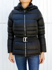 GLOSSY DOWN JACKET WITH BELT