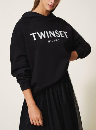TwinSet FELPA CON LOGO RICAMATO - 202TT2480 - Tadolini Abbigliamento