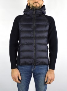 KNIT AMOS HYBRID DOWN HOOD ZIP