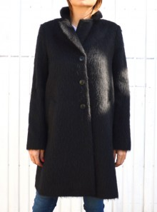 BRUSHED WOOL CLOTH COAT