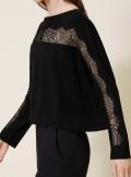 TwinSet MAGLIA CON INTARSIO DI PIZZO - 202TP3382 - Tadolini Abbigliamento
