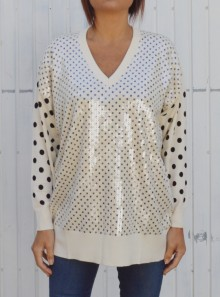 MAXI POLKA DOTS JUMPER WITH SEQUINS