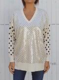 TwinSet MAXI MAGLIA A POIS CON PAILLETTES - 202TT3341 - Tadolini Abbigliamento