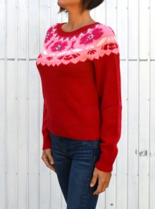 WOOL AND MOHAIR BLEND JUMPER WITH EMBROIDERY