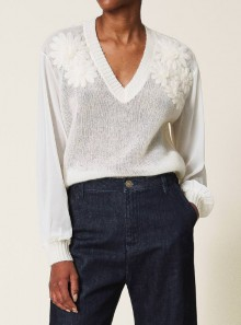 MOHAIR JUMPER WITH EMBROIDERY