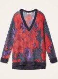 WOOL AND MOHAIR FLORAL MAXI JUMPER