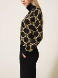 TwinSet MAGLIA DOLCEVITA CON STAMPA CATENE - 202TT3340 - Tadolini Abbigliamento