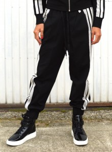 JOGGERS WITH LACE AND SATIN
