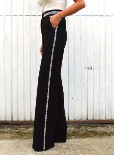 My Twin TWINSET PANTALONI A ZAMPA CON BORCHIE - 202MT2153 - Tadolini Abbigliamento