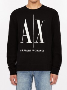 ROUND NECK SWEATSHIRT WITH MAXI LOGO
