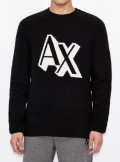 ROUND NECK SWEATER WITH CONTRASTING LOGO