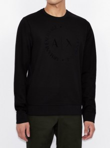 ROUND NECK SWEATSHIRT WITH TONE ON TONE LOGO