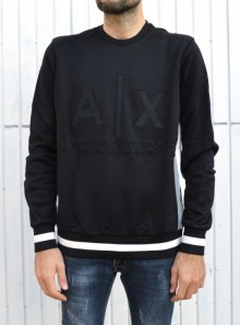 ROUND NECK SWEATSHIRT WITH LOGO AND CONTRASTING DETAILS