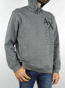 SWEATSHIRT WITH HOOD AND CONTRASTING LOGO