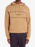 Fred Perry FELPA CON CAPPUCCIO E INSERTO RICAMATO - M9591 - Tadolini Abbigliamento