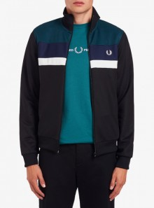 Fred Perry TRACK JACKET COLOUR BLOCK - J9543 - Tadolini Abbigliamento