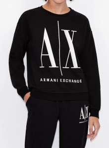 Armani Exchange FELPA GIROCOLLO CON MAXI LOGO - 8NYM02-YJ68Z 1200 - Tadolini Abbigliamento