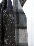 WOOL COAT WITH CHECK PRINT Curasao