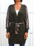KNITTED CARDIGAN WITH SEQUINS Henk