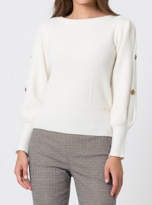 ROUND NECK SWEATER WITH PUFF SLEEVES Blasius