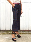 TROUSERS WITH CHECK PATTERN Asmay