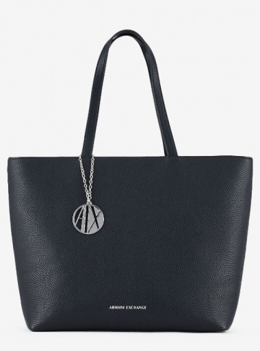 FAUX LEATHER SHOPPER BAG WITH ZIP FASTENING