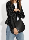 FAUX LEATHER SHOULDER HOBO BAG