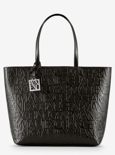 SHOPPER BAG WITH ALL OVER LOGO