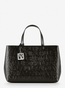 Armani Exchange BORSA SHOPPER CON TRACOLLA E LOGO ALL OVER - 942646 - Tadolini Abbigliamento