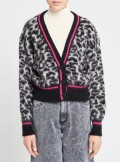 ANIMALIER CARDIGAN WITH COLORFUL DETAILS