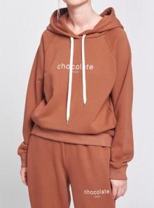 Vicolo FELPA CON CAPPUCCIO CHOCOLATE - RW0033 067 - Tadolini Abbigliamento