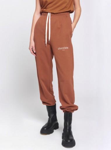 Vicolo PANTALONI JOGGER IN FELPA CHOCOLATE - RW0023 067 - Tadolini Abbigliamento
