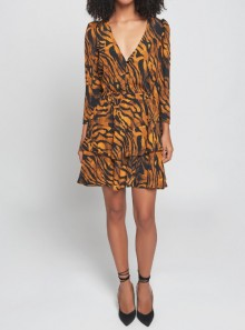 ANIMALIER PRINTED MINI DRESS