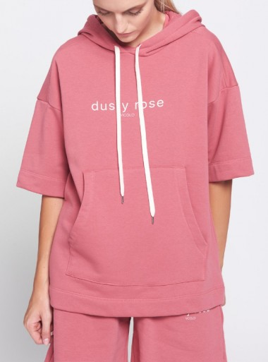 DUSTY ROSE HOODED SWEATSHIRT