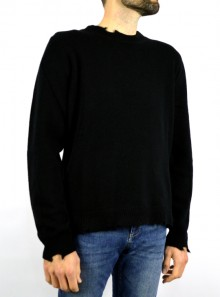 ROUND NECK SWEATER WITH BREAKS