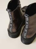 My Twin TWINSET ANFIBI IN PELLE LAMINATA CON LOGO - 202MCP082 - Tadolini Abbigliamento
