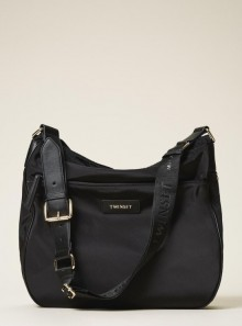 TECHNICAL SATIN HOBO BAG