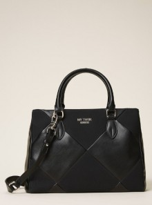 FAUX LEATHER SHOPPING BAG