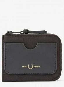 Fred Perry PORTAFOGLIO CON CHIUSURA A ZIP E GRAFICA - L8280 - Tadolini Abbigliamento