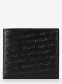 Armani Exchange PORTAFOGLIO IN PELLE CON LOGO INCISO ALL OVER - 958098-CC349 - Tadolini Abbigliamento