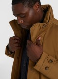 LAMINATED COTTON PARKA WITH HIGH NECK