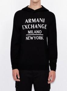 Armani Exchange MAGLIONE CON CAPPUCCIO - 6HZMLF-ZJLBZ - Tadolini Abbigliamento
