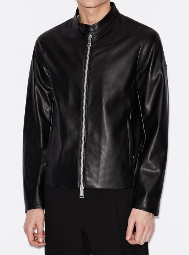 FAUX LEATHER JACKET WITH ZIP